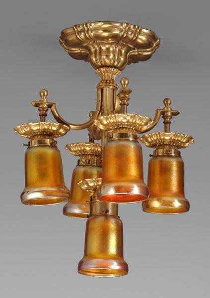 23: Brass chandelier,