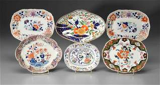 493 Six ironstone serving pieces