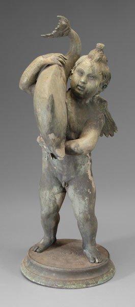586: Figural garden sculpture,