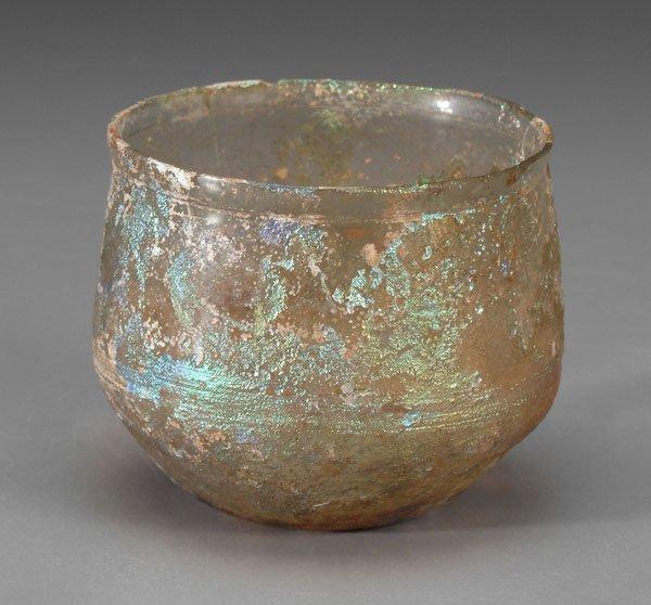 602: Late Roman glass cup,