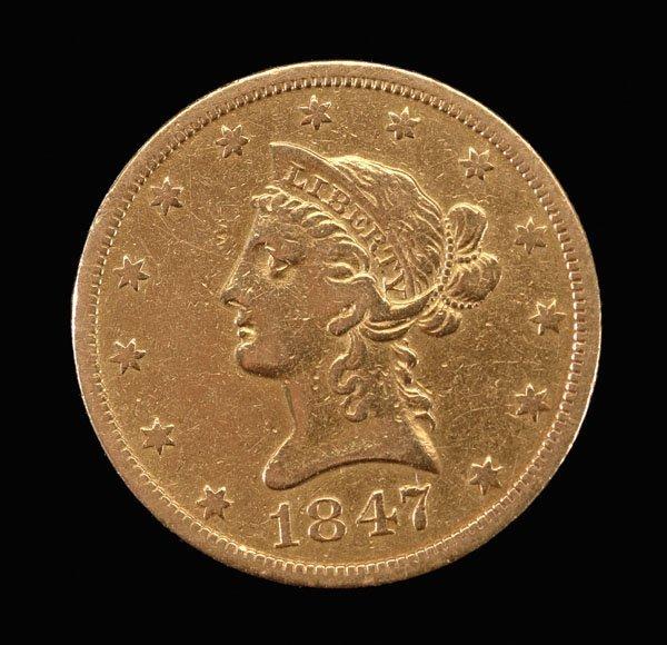 769: 1847-O U.S. $10 gold piece,