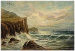 783: Maritime painting signed Burgess,
