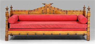 845 Victorian faux bamboo daybed