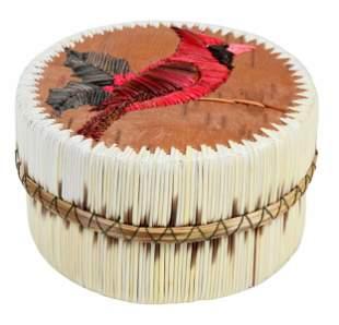 Lidded Porcupine Quill Basket