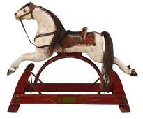 Vintage Carved and Painted Child's Rocking Horse