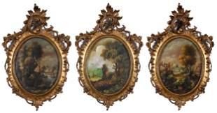 Three Dutch School Decorative Paintings