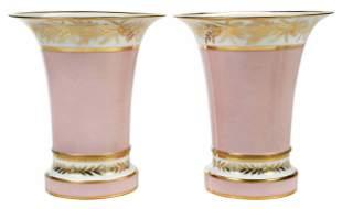 Pair of Paris Porcelain Style Cachepots