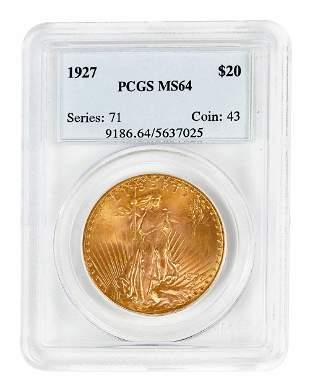 1927 St. Gaudens $20 Gold Coin