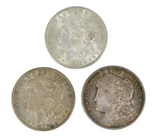 Over 300 Silver Morgan Dollars Dated 1921
