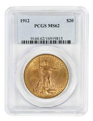 1912 St. Gaudens $20 Gold Coin