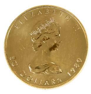 1980 Canadian Gold Maple Leaf