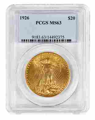 1926 St. Gaudens $20 Gold Coin