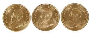 Three Gold Krugerrands