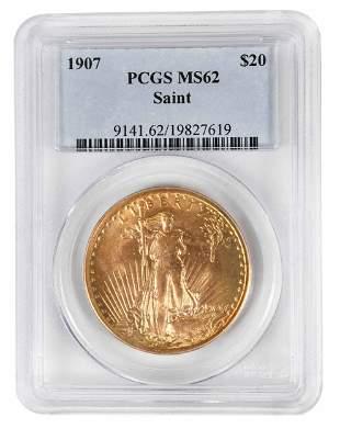 1907 St. Gaudens $20 Gold Coin