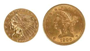 Two U.S. Gold Coins