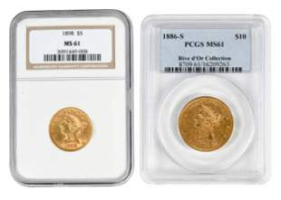Two Graded U.S. Gold Coins