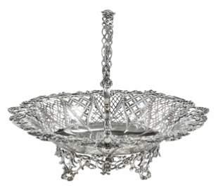 George III English Silver Basket