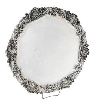 Large Victorian English Silver Tray