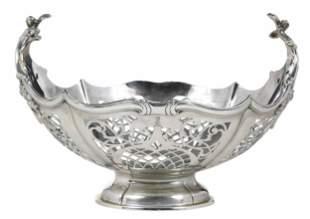 English Silver Pierced Basket