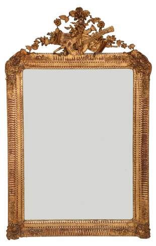 Louis Philippe Carved and Giltwood Mirror