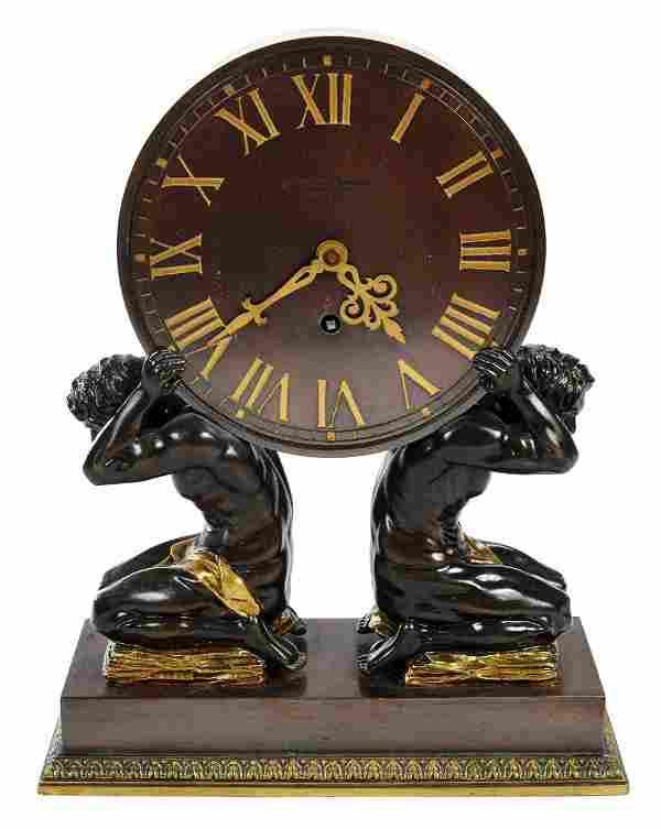 Gilt Bronze Chelsea Figural Mantel Clock