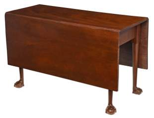 Rare Charleston Chippendale Drop Leaf Table