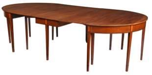 Fine Federal Virginia Mahogany Banquet Dining Table