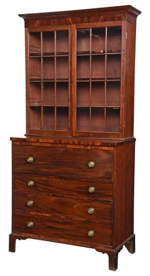 Virginia Federal Mahogany Secretary Bookcase