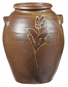 Rare Colin Rhodes Attributed Decorated Stoneware Jar