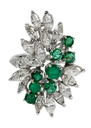 10kt. Diamond and Emerald Ring