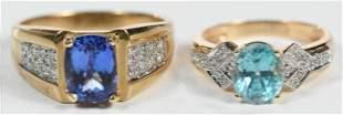 Two Gold Gemstone Rings