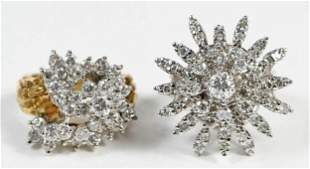 Two Gold Cluster Rings