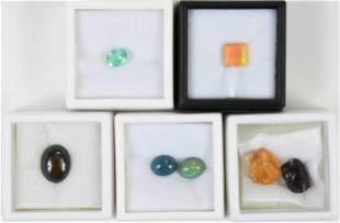 Seven Assorted Loose Gemstones