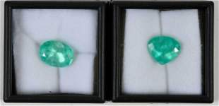 Two Loose Emerald Gemstones