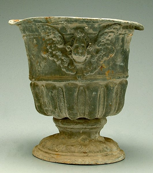4: Lead garden urn,