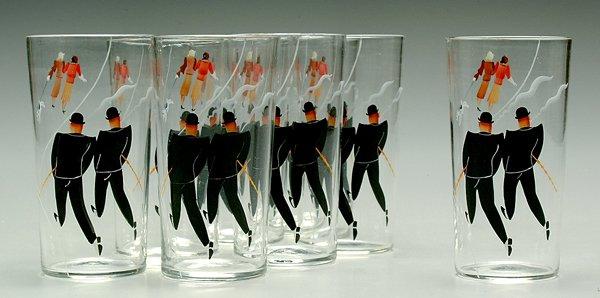 5: Eight whimsical highball glasses: