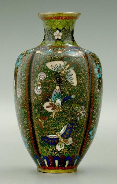 9: Japanese cloisonné vase,