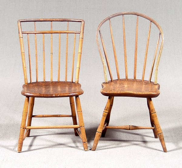 10: Two Windsor chairs: