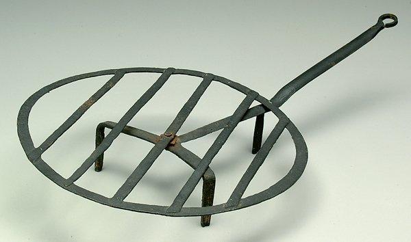 11: Wrought iron revolving gridiron,
