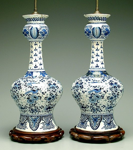 20: Two blue and white jars: