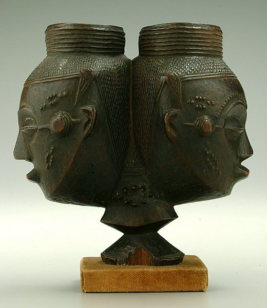 261: African tribal effigy cup,