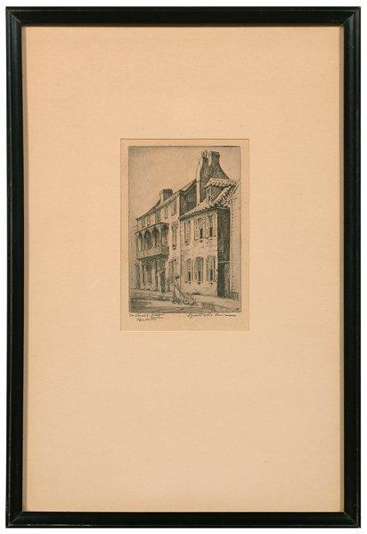 608: Etching by Elizabeth O. Verner,