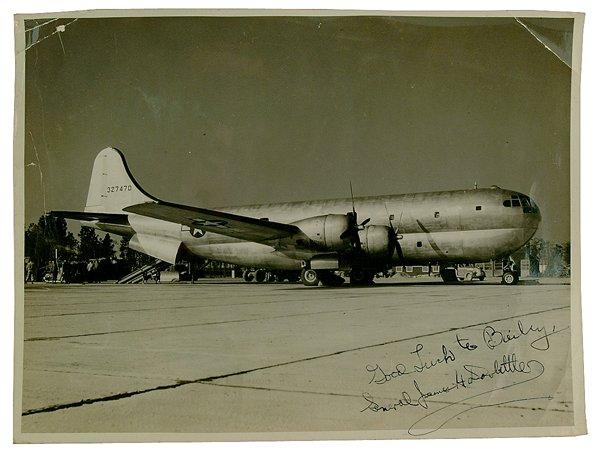 610: James H. Doolittle signed photo,