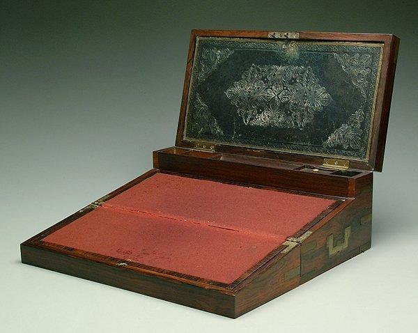 620: Rosewood double-fold lap desk,