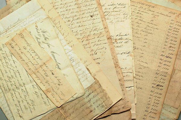 1039: 18th &19th century Tennessee ephemera,