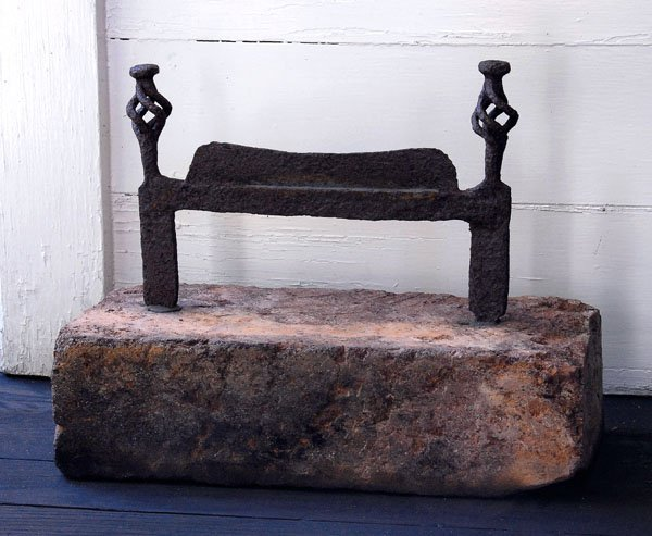 19: Large-scale wrought iron boot scraper,