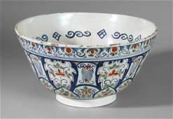291: Delft punch bowl,