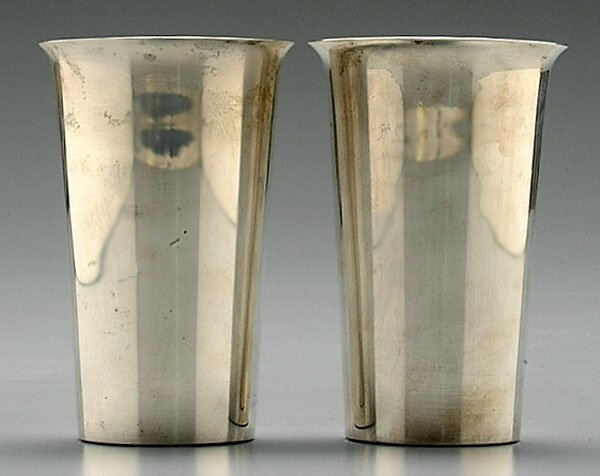 6: Eight sterling tumblers,