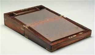 Rosewood lap desk,