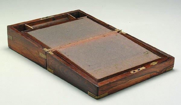 7: Rosewood lap desk,